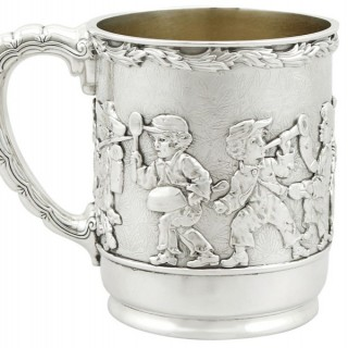American Sterling Silver Christening Mug by Tiffany & Co - Antique 1879