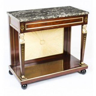 Antique French Empire Marble Top & Ormolu Console Table C1810 19th C