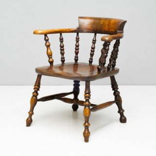Antique Smokers Bow Armchair