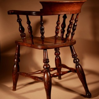 A Captains/Smokers Bow-Back Arm Chair.