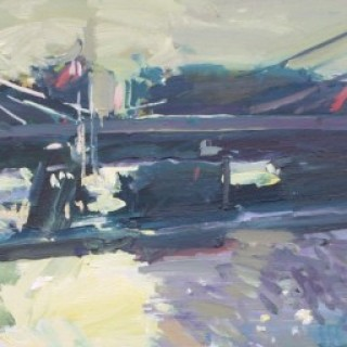 'A Winter Afternoon at Albert Bridge' by Luke Martineau (born 1970)
