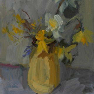 'First Daffodils' by Serena Rowe (born 1977)