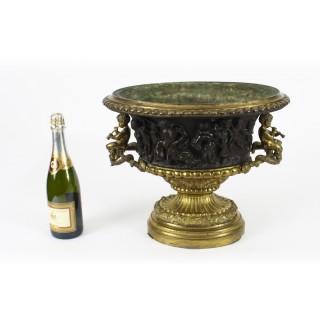 Antique French Grand Tour Bronze & Ormolu Jardiniere 19th C