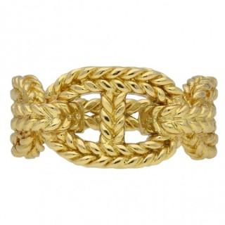 Hermes 18 carat yellow gold ring, French, circa 1960.