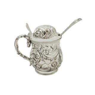 Antique Georgian Sterling Silver Mustard Pot 1819