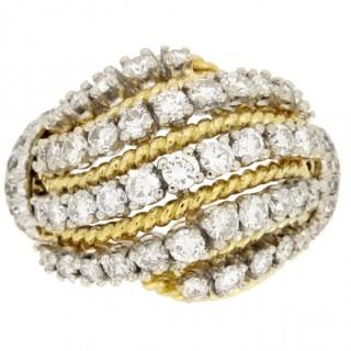Van Cleef & Arpels diamond cocktail ring, French, circa 1960