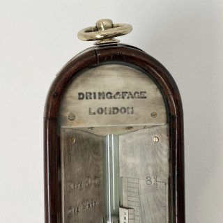 Early Victorian Marine Barometer by Dring & Fage London