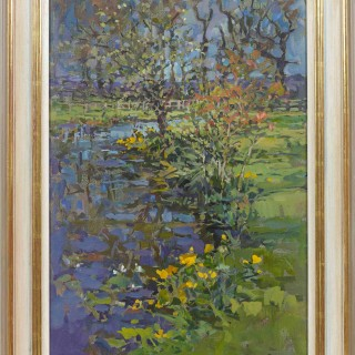 'Kingcups' by Susan Ryder RP NEAC (born 1944)