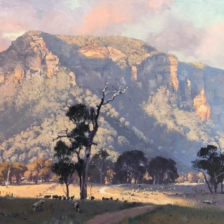 'Golden Afternoon Light, Capertee Valley' by Warwick Fuller (born 1948)