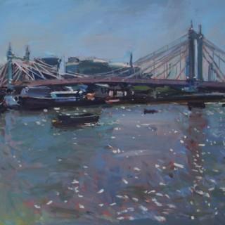 'Incoming tide Albert Bridge' by Luke Martineau (born 1970)