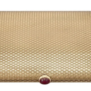 9 ct Yellow Gold and 0.86ct Ruby Compact by Boucheron - Vintage (1964)