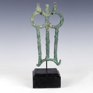 Luristan Bronze Vessel Handle with Birds