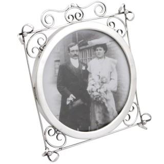 Sterling Silver Photograph Frame - Antique Edwardian (1905)