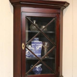 Mahogany Corner Wall Cabinet