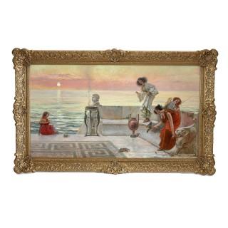 Large Academic style oil painting by Emilio Vasarri