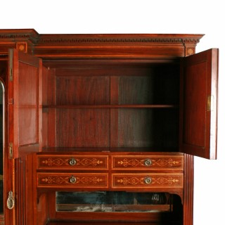 Marquetry Inlaid Wardrobe By Heal & Son
