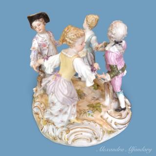 Meissen Group Of Dancing Children