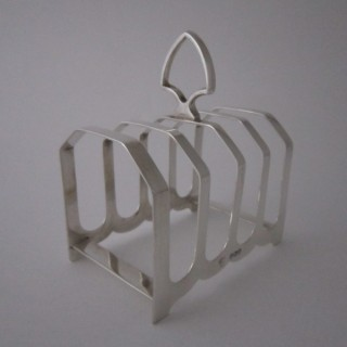 Antique Sterling Silver Toast Rack - 1932