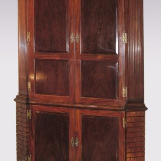18th Century mahogany Corner Cupboard.
