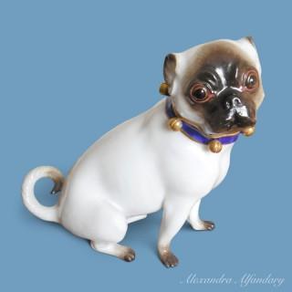 A Meissen Pug After A Model By J. J. Kaendler