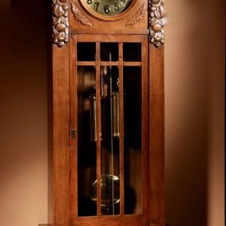 An Impressive Black Forest Oak Grunderzeit Longcase Clock Circa 1900-10