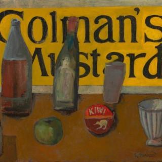 'Still Life with Colman's Mustard' by Simon Quadrat PPRWA NEAC (born 1946)