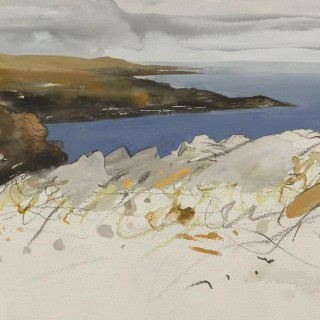 'High on the Cliffs, Coul Point' by Chris Bushe RSW (born 1958)