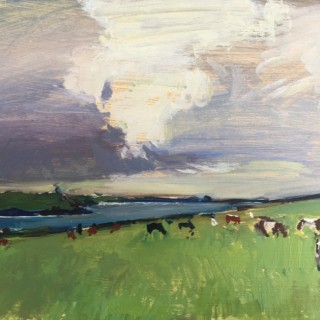 'Cows at Pentire III' by Luke Martineau (born 1970)