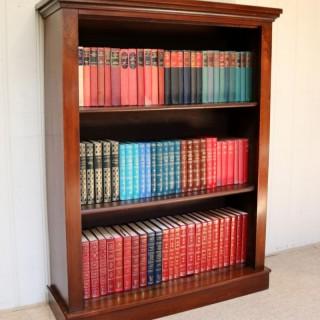 Late 19th Century Mahogany Open Bookcase