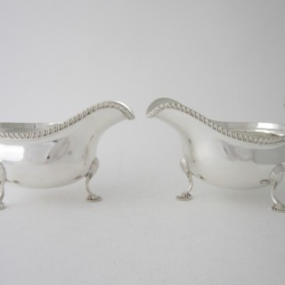 Antique Sterling Silver Sauce Boats - 1913/14