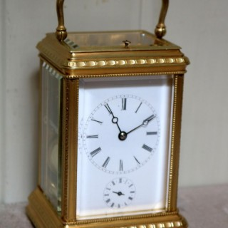 Bell Striking and Repeating and Alarm Gorge Case Carriage Clock