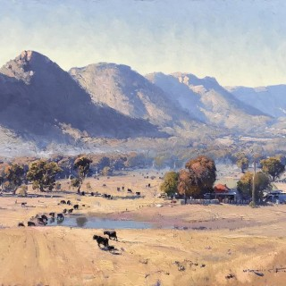 'Light Mist in the Capertee Valley' by Warwick Fuller (born 1948)