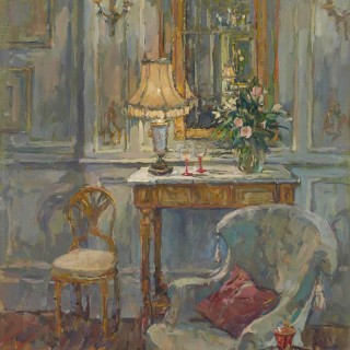 'The Gilt Mirror' by Susan Ryder RP NEAC (born 1944)