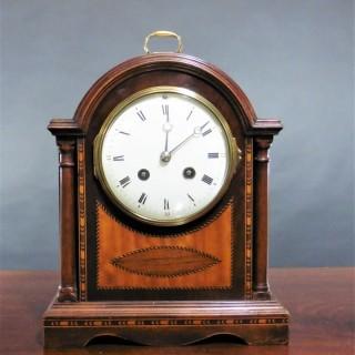 Victorian French Mahogany Mantel Clock