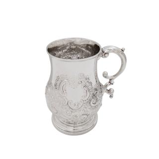 Antique Georgian Sterling Silver Pint Tankard/Mug 1821