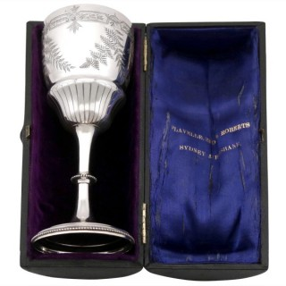 Sterling Silver Goblet - Boxed - Antique Victorian (1887)