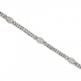 Oscar Heyman Brothers diamond bracelet, circa 1958.
