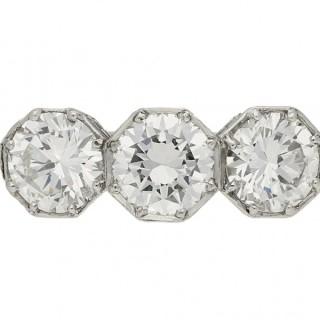 Marcus & Co. three stone diamond ring, American, circa 1920.