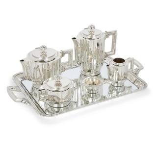 Art Deco Spanish silver coffee and tea set