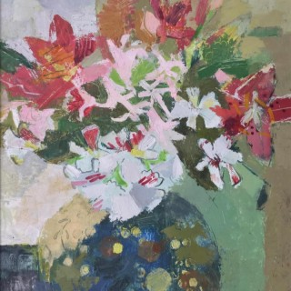 'Nerines & Lilies' by Helen Riches (born 1961)