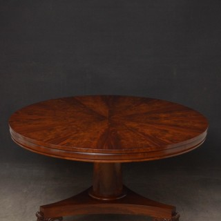 George IV Flamed Mahogany Centre Table / Dining Table
