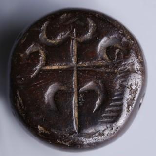 Sassanian Black Stone Stamp Seal