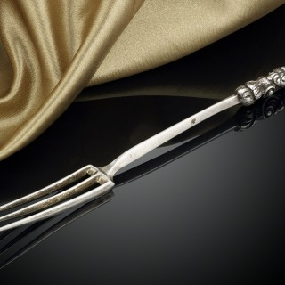 A 17th Century Italian Three Tined Silver Fork