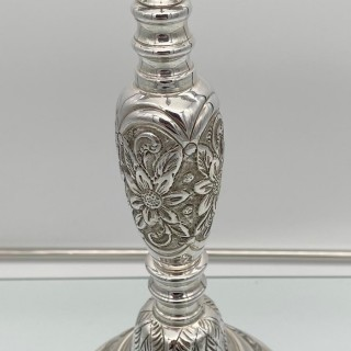 Antique George V Large Sterling Silver Menorah London 1921 Joseph Zweig