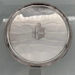 Antique George III Pair Sterling Silver Salvers London 1802 Thomas Wallis II