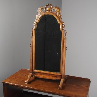 Queen Anne Style Walnut Mirror by Whytock and Reid