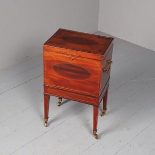 Antique George III Inlaid Mahogany Cellarette