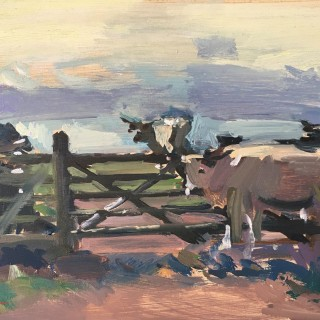 'Cows at Pentire IV' by Luke Martineau (born 1970)