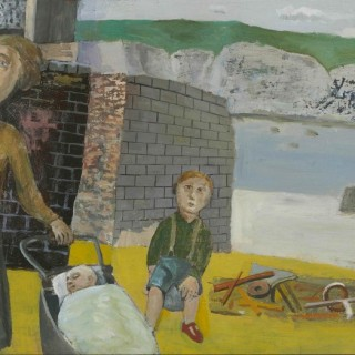 'Mother and Children by the Sea' by Simon Quadrat PPRWA NEAC (born 1946)