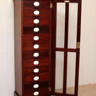 Unusual Mahogany Filing Cabinet